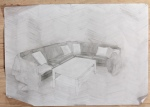 Shaded sofa drawing